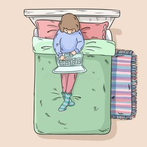 girl-laptop-bed-comic-style-image-top-view-144138601